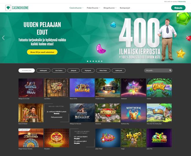 Casinohuone kokemuksia ja arvostelu - lue artikkeli niin tiedät kaiken tarvittavan pelisivustosta
