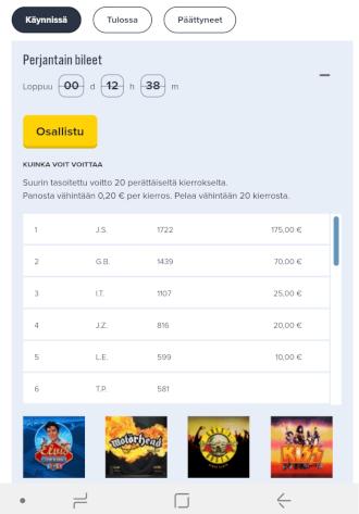 iGame nettikasino kasinoturnaukset