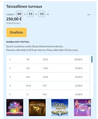 kolikkopelit.com turnaukset