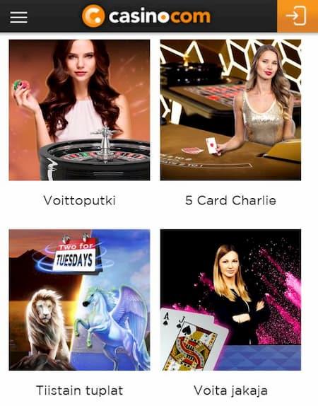 Casino.com kampanjat ovat monipuoliset