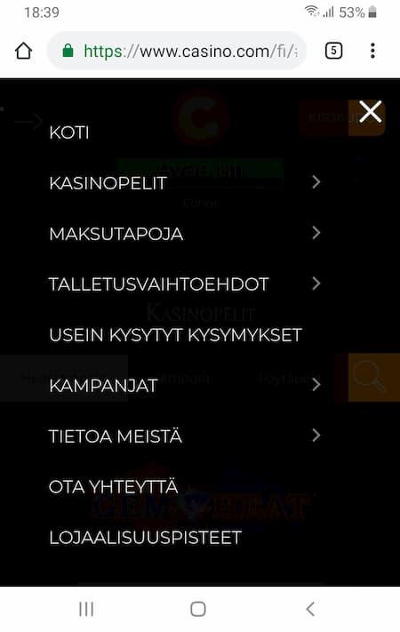 Casino.com mobiili kokemuksia