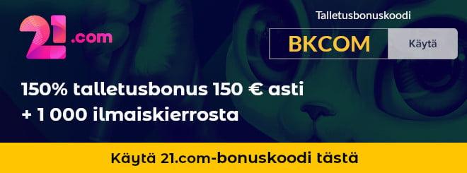21.com casino bonuskoodilla ylimääräinen etu
