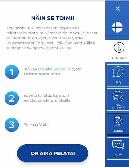 Pelaa.com asiakaspalvelu auttaa suomeksi
