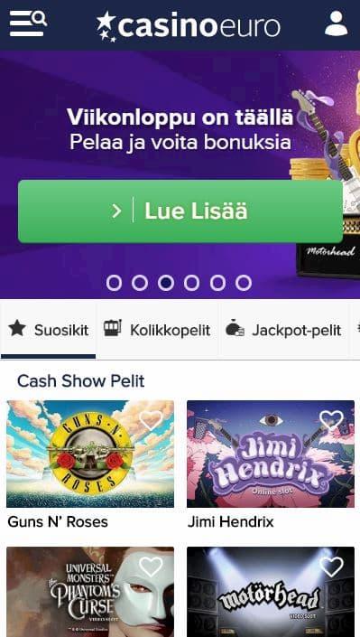 CasinoEuro kokemuksia nettikasinosta