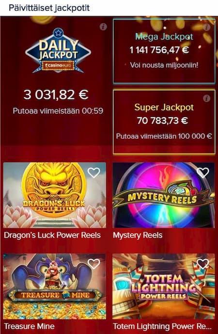 Casinoeuro pelit