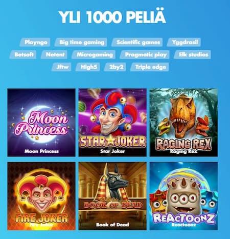 Pelejä loytyy yli 1000 kappaletta