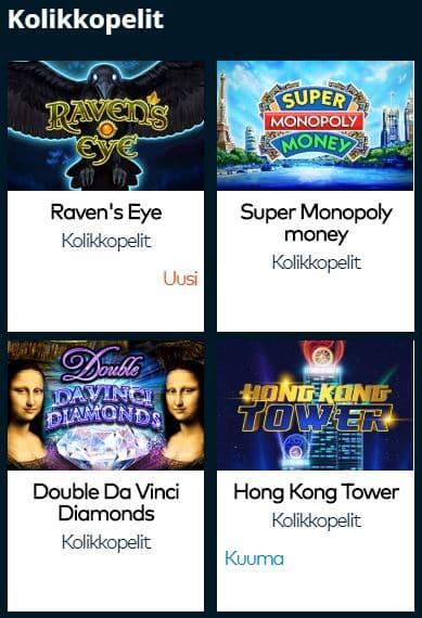 Fun Casinolta löytyy 900 peliä