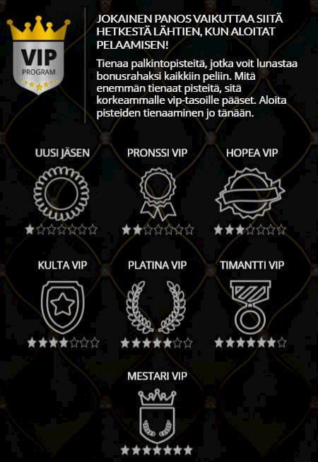 Mr Play VIP ohjelmasta voit saada käteisbonuksia