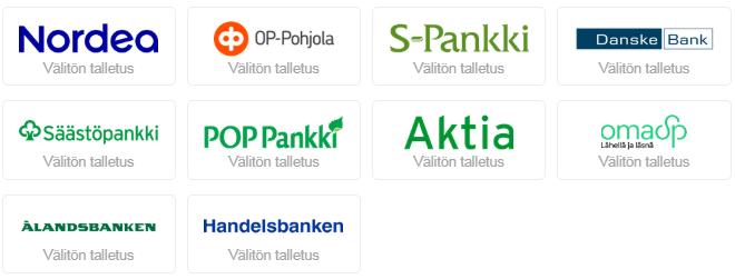 Tutut suomalaiset verkkopankit toimivat slots.io casinolla