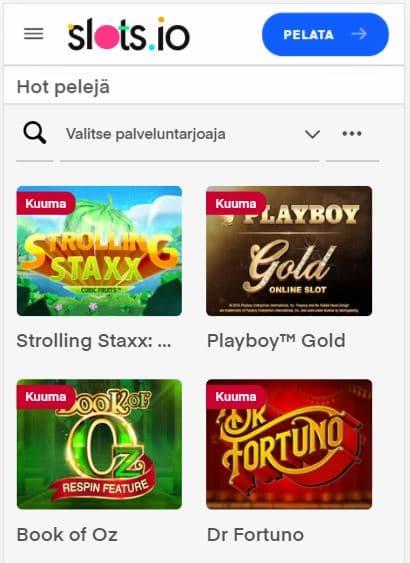 Slots.io kasino toimii näppärästi myös mobiilissa