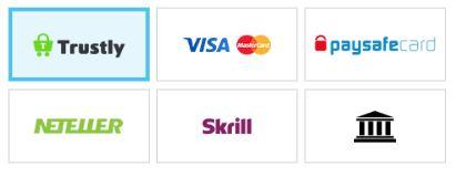 Multilotolla voit tallettaa Trustlyllä, Neteller Skrill -lompakoilla sekä korteilla