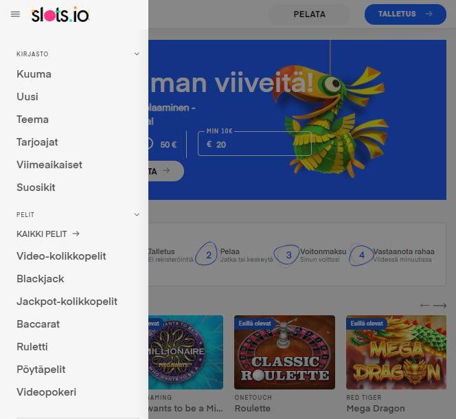 Slots.io kokemuksia parantaa erittäin hyvä kasinoaula