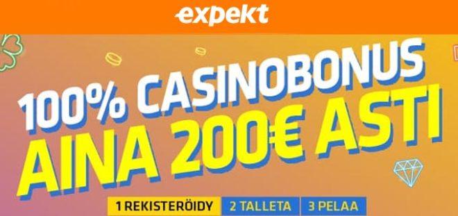 Expekt kasinon talletusbonus ohjeet