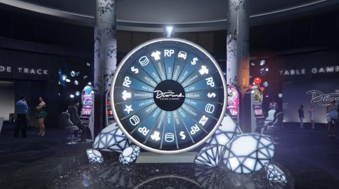 Onnenpyörä eli Lucky Wheen GTA online casinon aulassa
