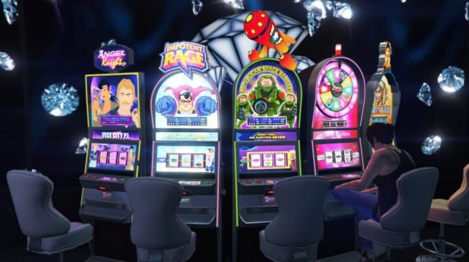 GTA:n casinolta löytyy muun muassa kolikkopelejä
