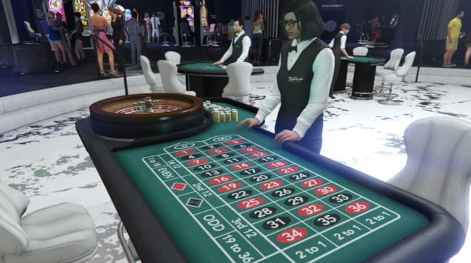Ruletti GTA Online casinolla