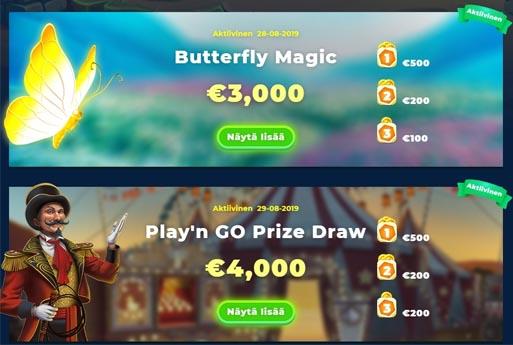 Turnausten avulla voit voittaa paljon ylimääräisiä palkintoja