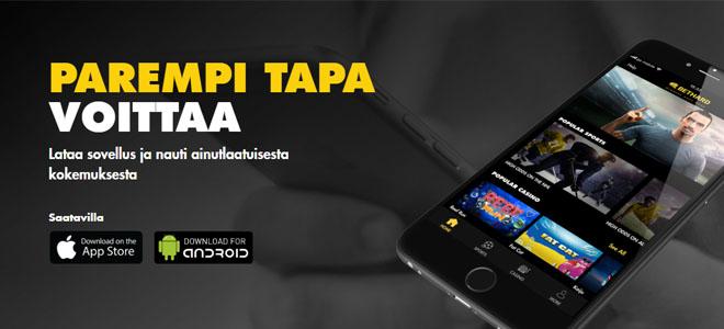 Voit myös ladata Bethard nettikasinon mobiili aplikaation Google Play storesta sekä iOS myymälästä
