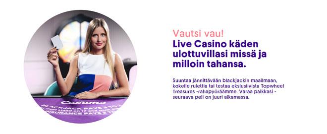 Casumo Casino uudistunut live casino