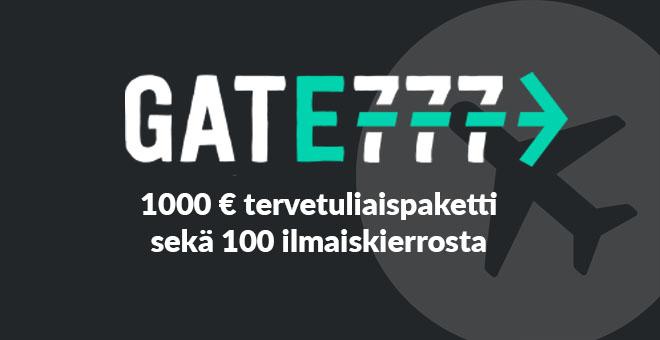 Gate777 on ensimmäisen luokan nettikasino