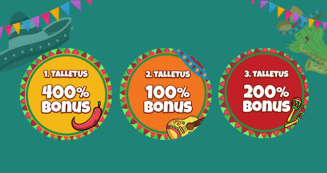 La Fiesta talletusbonus tarjoukset
