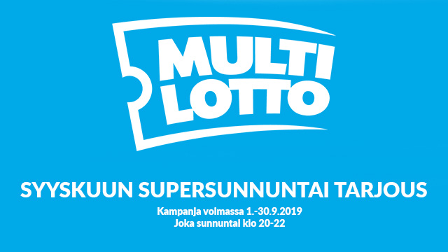 Multilotto supersunnuntai tarjous