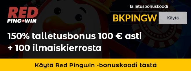 Red Pingwin bonuskoodilla saat paremman talletusbonuksen kuin mitä normaalisti