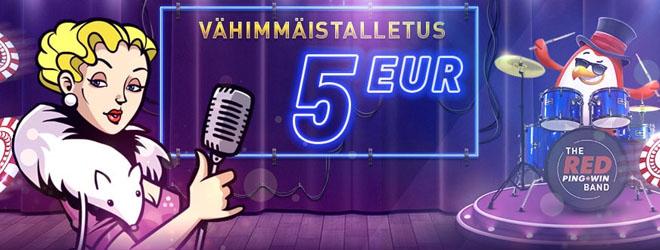 5 € minimitalletus