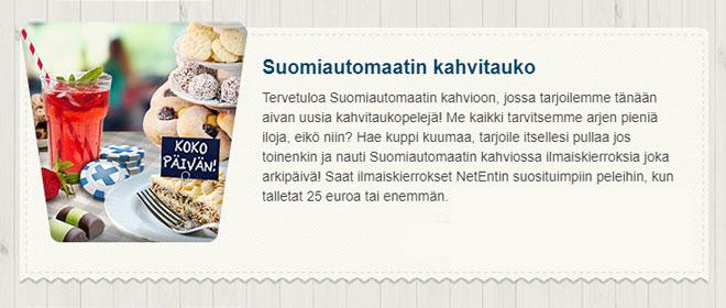 Kahvitauko Suomiautomaatilla