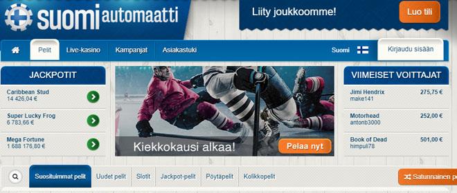 Suomiautomaatti kotisivun esittely