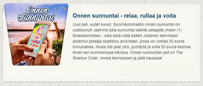 Suomiautomaatti Onnen sunnuntai