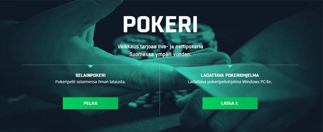 Pokeri on veikkaus.fi:n palvelu eli nettipokeri