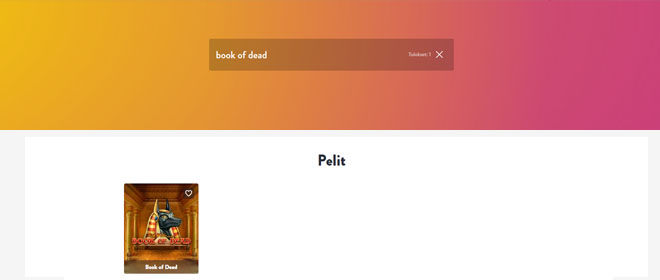Dunder book of dead kolikkopeli haku