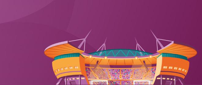 Jalkapallon EM kisat järjestetään usealla eri stadionilla kahdeksassa eri maassa