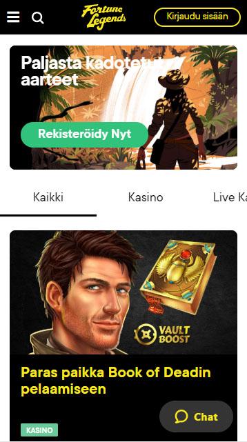 Fortune legends mobiilissa