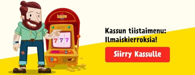 Kassu.com tarjoaa lisää ilmaiskierroksia tiistaisin - Lue kampanjan ehdot tarkasti