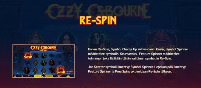 Ozzy Osbourne pelin ohjeet osa 6 Re-spin uudelleenpyöräytys