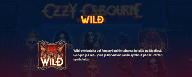 Ozzy Osbourne pelin ohjeet osa 8 Wild eli villi symboli