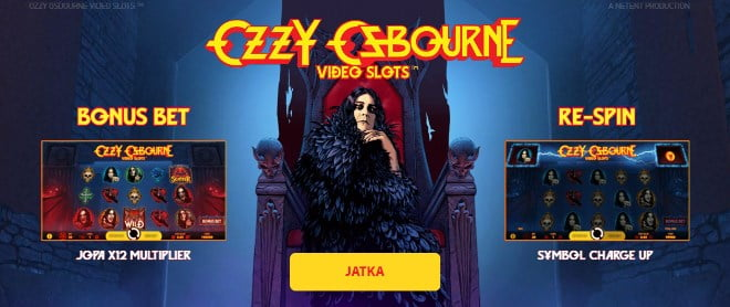 Ozzy Osbourne peli on uusi peli Netentiltä