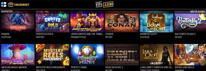 VIPsCasino.com pelivalikoima