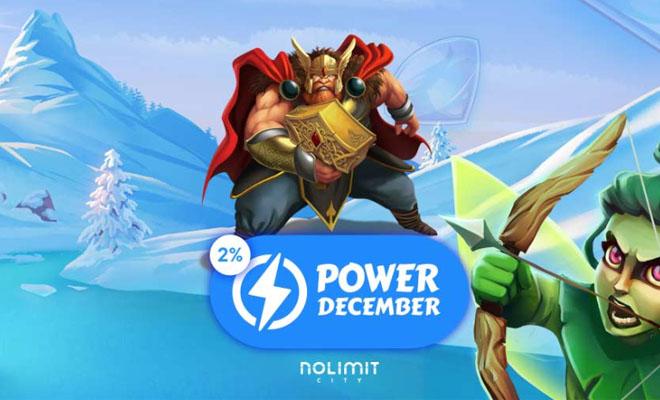 Fortune Legends joulun power hour 2% käteispalautus