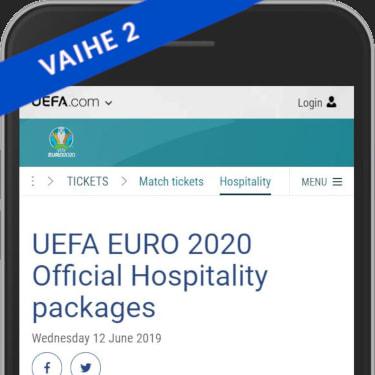 Osta Uefan Hospitaly package otteluliput
