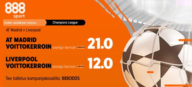18.2 Liverpool vs Atletico Madrid kertoimet