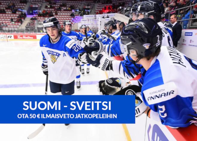 Suomi Sveitsi otteluun on tarjolla 50 euron arvoinen ilmaisveto