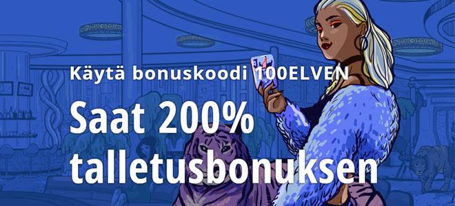 Vulkan vegas bonuskoodilla jopa 200% bonus