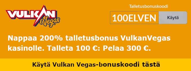 Vulkan Vegas bonuskoodi