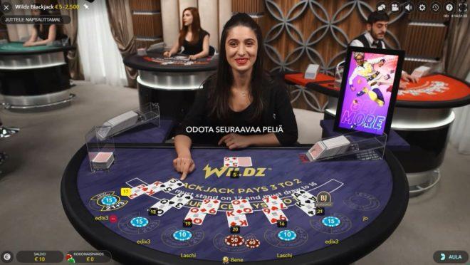 Wildzin oma Liveblackjack pöydässä pelaat vain Wildz pelaajien kanssa