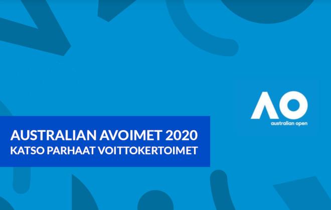 australian avoimet voittokertoimet 2020