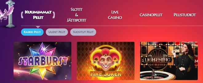 Casino gods tarjoaa laajan kattauksen positiivisia kokemuksia herättäviä pelejä