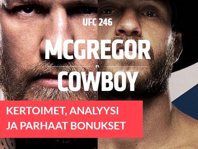 Katso kertoimet McGregor vs Cerrone UFC otteluun Las Vegasissa 19.1.2020
